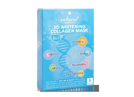 Mặt nạ làm trắng da Sakura 3D Whitening Collagen Mask (5 miếng/hộp)