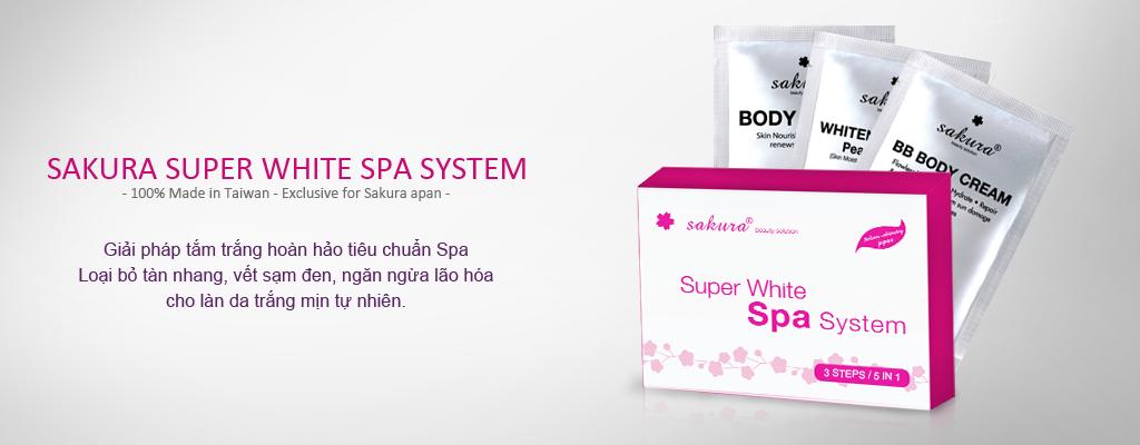 Bộ kem siêu tắm trắng cao cấp tiêu chuẩn Spa Sakura Super White