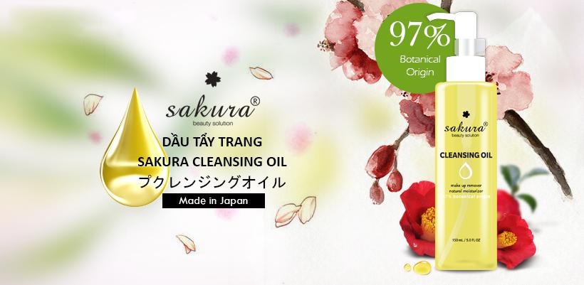 Dầu tẩy trang làm sạch sâu Sakura Cleansing Oil