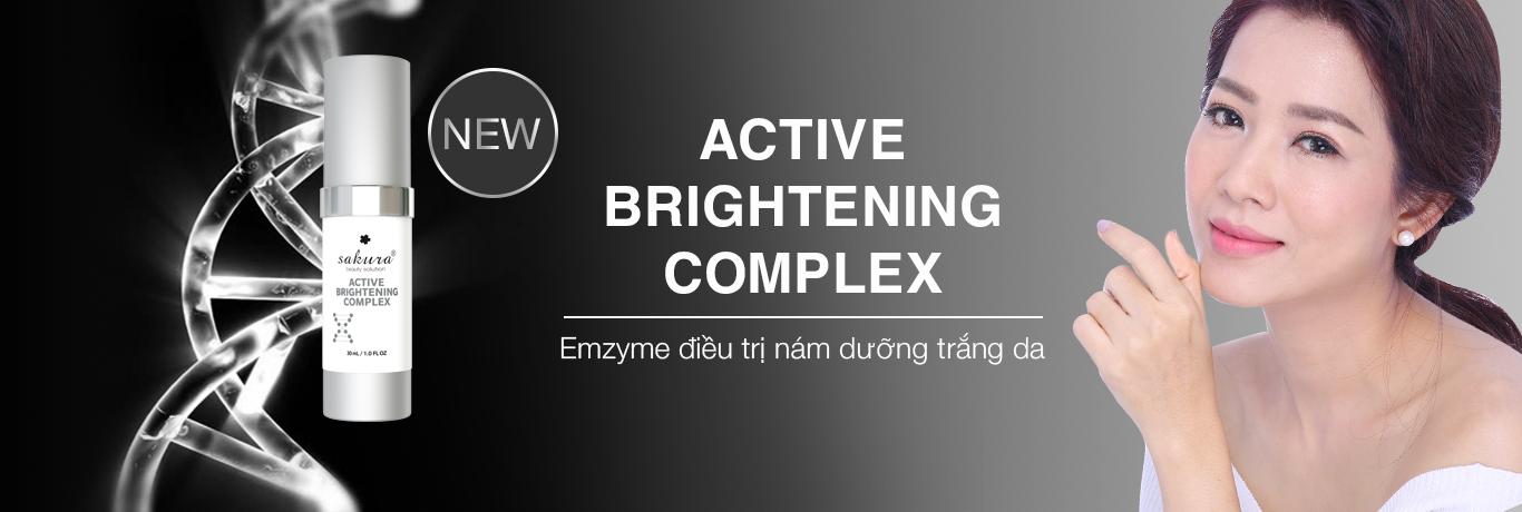 Enzyme trị nám, trị thâm và dưỡng trắng da Sakura Active Brightening Complex