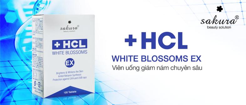 Viên Uống Trị Nám Da Sakura HCL White Blossom Ex