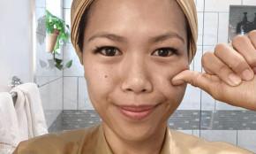 """Cách massage """"6 bước, 3 động tác"""" khiến gương mặt cô nàng này thon gọn chỉ sau 1 phút"""