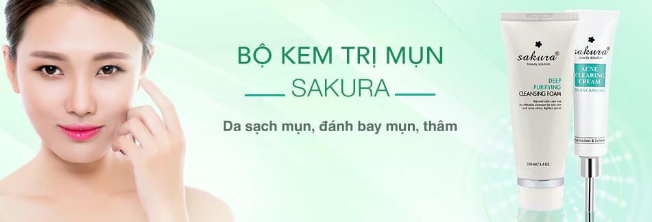 bộ đôi kem trị mụn sakura