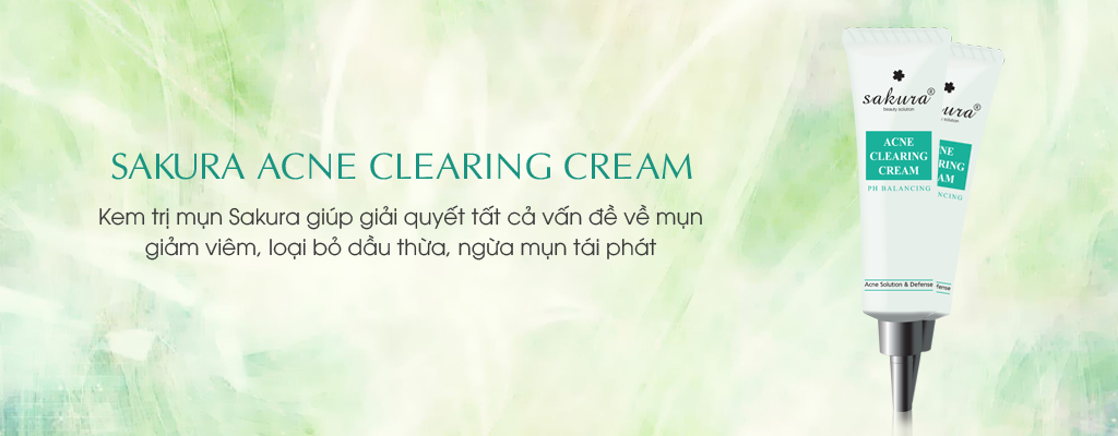 kem tri mun sakura acne clearing cream